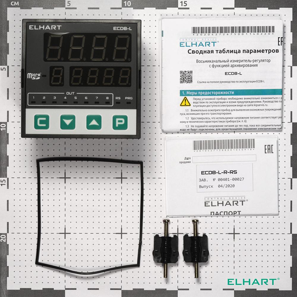 Измеритель-регулятор 8-ми канальный с функцией архивирования ECD8-L-R-RS