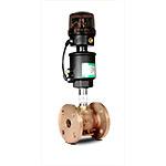 Клапан запорно-регулирующий с позиц.D, бронза, (2/2, Ф/Ф(25мм), вода 0-10 бар, пар 0-10 бар, (-10...+184)С, 4-20мА, при откл. питания-закр., привод 63 мм)