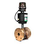 Клапан запорно-регулирующий с позиц.D,  бронза, (2/2, Ф/Ф(32мм), вода 0-12 бар, пар 0-10 бар, (-10...+184)С, 4-20мА, при откл. питания-закр., привод 90 мм)