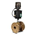 Клапан запорно-регулирующий с позиц.D,  бронза, (2/2, Ф/Ф(40мм), вода 0-8 бар, пар 0-8 бар, (-10...+184)С, 4-20мА, при откл. питания-закр., привод 90 мм)
