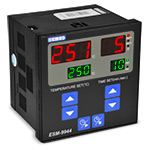 Контроллер управления печью, регулятор+таймер, 96х96  (вход Pt100 (0...400С, 3-х пров.), 2 выхода: выход1 – управление ТЭНом (реле (НО, 7А)), выход2 – сигнал таймера (реле (НО, 7А), питание 230 VAC, кл. 1)