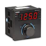 Pегулятор температуры, задание уставки энкодером, 96x96 (вход 50М,Pt100, J, L, K, R, S, T), управ. выход: реле (НО+НЗ, 7А) или имп. 17 VDC, питание 230 VAC, кл. 0,25)