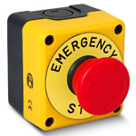 """Пост желто-черный 1H3 кнопка """"Грибок"""" P1EC400E40K"""