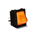 Тумблер клавишный с подсветкой (желтый) A14S