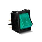 Тумблер клавишный с подсветкой (зеленый) A14Y