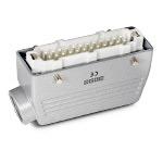 Ответная часть к разъему EBM24PM44, монтаж на кабель (24 вывода, папа, боковой ввод PG21, металл, 16А)