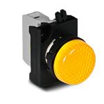 Сигнальная арматура желтого цвета 12-30 В AC/DC IP 65