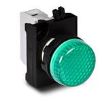 Сигнальная арматура зеленого цвета 12-30 В AC/DC IP 65