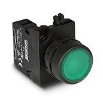 Кнопка зеленая 1НО IP65