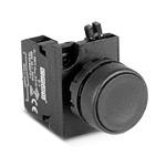Кнопка черная 1НО IP65