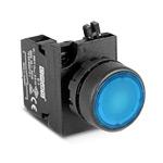 Кнопка синяя 1НО IP65