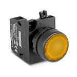 Кнопка желтая 1НО IP65