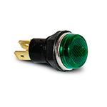 Сигнальная арматура зеленая  d=14мм, с гайкой, 24V