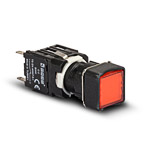Компактная квадратная кнопка красная D200KDK