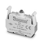 Блок-контакт подсветки с красным светодиодом 100-250 В АС ВК
