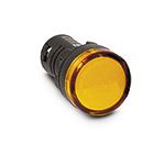Лампа (LED) сигнал. матрица d22мм, желтый 24В