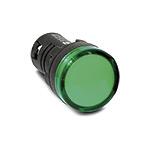 Лампа (LED) сигнал. матрица d22мм, зеленый 24В