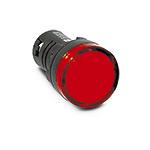 Лампа (LED) сигнал. матрица d22мм, красный 24В