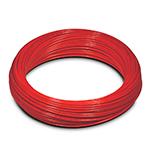 Пневмотрубка D=4x2, рилсан PA12 LLH, до 44 бар при 20С, бухта 100м, цвет красный