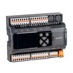 """ПЛК с дисплеем (2.4"""", цветн., 320х240пикс.), крепление на DIN-рейку, 8дискр.вх.(NPN)/8дискр.вых.(6 реле,2 оптореле), 8ан.вх.(универс.),2ан.вых.(0..10В), RS-485х2, MR-Bus2, слот для сетев. карт, Modbus, USB-Device, =18..48В,~18..36В"""