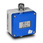 Преобразователь влажности и температуры, серия А, настенное исполнение, требуется съемный зонд S, Выход1: влажность (0...100%), 4-20 мА,  Выход2: температура (-80...+200С), 4-20 мА, Питание: 10...30 VDC, исполнение с дисплеем