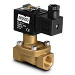 """Клапан электромагнитный на высокое давление, латунь, 1/2"""" (12 мм),  2/2 НЗ,   -10°С...+100°С;  0,5…40 бар, 55 л/мин, мембрана: латунь+полиуретан, 220В 50-60Гц, для воды и воздуха, выдува PET-тары (тип катушки 4)"""