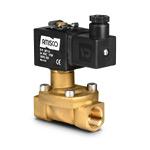 """Клапан электромагнитный на высокое давление, латунь, 1/2"""" (12 мм),  2/2 НЗ,   -10°С...+100°С;  0,5…40 бар, 55 л/мин, мембрана: латунь+полиуретан, 24В=, для воды и воздуха, выдува PET-тары (тип катушки 4)"""