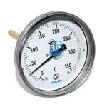 Термометр биметаллический (осевой) БТ-51.х11-100/  100мм, d=100 мм, с гильзой 100мм, (0..+350)С, G1/2, кл 1,5