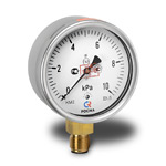 Манометр низкого давления (напоромер) КМ-22Р, (0-10)кПа, G1/2 кл.1,5