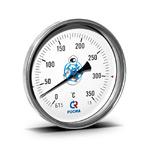 Термометр биметаллический (осевой) БТ-51.х11-100/  150мм, d=100 мм, с гильзой 150мм, (0..+350)С, G1/2, кл 1,5