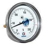 Термометр биметаллический (осевой) БТ-51.х11-100/ 100мм, d=100 мм, с гильзой 100мм, (0..+250)С, G1/2, кл 1,5