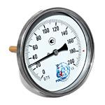 Термометр биметаллический (осевой) БТ-51.х11-100/  64мм, d=100 мм, с гильзой 64мм, (0..+200)С, G1/2, кл 1,5