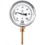 Термометр биметаллический (радиальный) БТ-52.х11-100/  64мм, d=100 мм, с гильзой 64мм, (0..+120)С, G1/2, кл 1,5