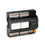 Modbus-модуль ввода/вывода; 8вх.(PNP/NPN/актив.)/6вых.(5 реле 5А, 1 оптореле 200мА); 8 аналог.вх.(универс., 12бит)/4 аналог.вых.(0..10В); COM1(RS-485, ModbusRTU); COM2(RS-485, ModbusRTU, сист.шина MRBus II); порт расш.MRL; конфигурация по USB; =/~24В
