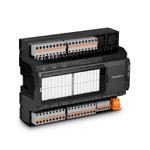 Modbus-модуль ввода/вывода; 16вх.(PNP/NPN/актив.)/12вых.(12 реле 5А); COM1(RS-485, ModbusRTU); COM2(RS-485, ModbusRTU, сист.шина MRBus II); порт расш.MRL; конфигурация по USB; =/~24В