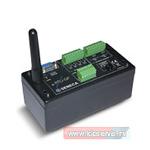 Компактный телеметрический модуль с питанием от батареи (входы: 4 дискретных (сухие контакты), 2 аналоговых (±50/±20/±2 VDC/±20 мА); 2 релейных выхода , RS-232, SMS, GPRS, FTP, SMTP, GSM-антенна, питание от встроенной батареи)