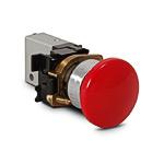 Кнопка аварийного останова без фиксации 2/2(НЗ), 4мм, пружинный возврат, цвет красный