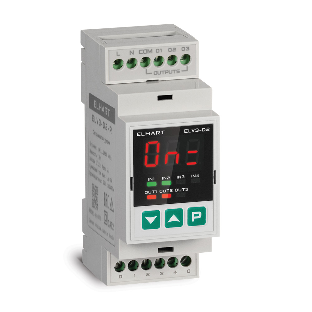 Сигнализатор уровня 3-х канальный ELV3-D2-R