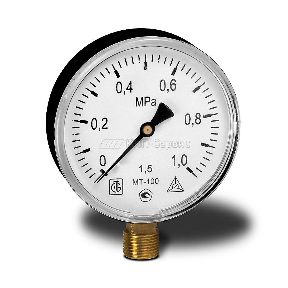 Манометр МТ-100 (0-1,0МПа)