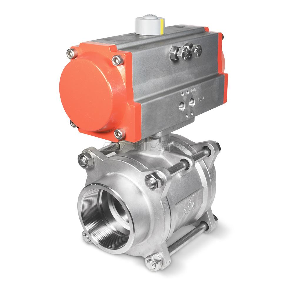 BAV-2W-080-TH3-S4-DA Клапан шаровой с пневмоприводом, G 3